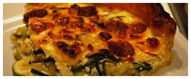 Quiche courgette chorizo